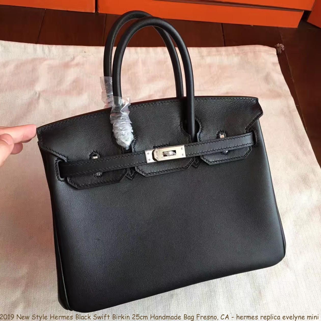 2019 New Style Hermes Black Swift Birkin 25cm Handmade Bag Fresno ... b39d424a54f90