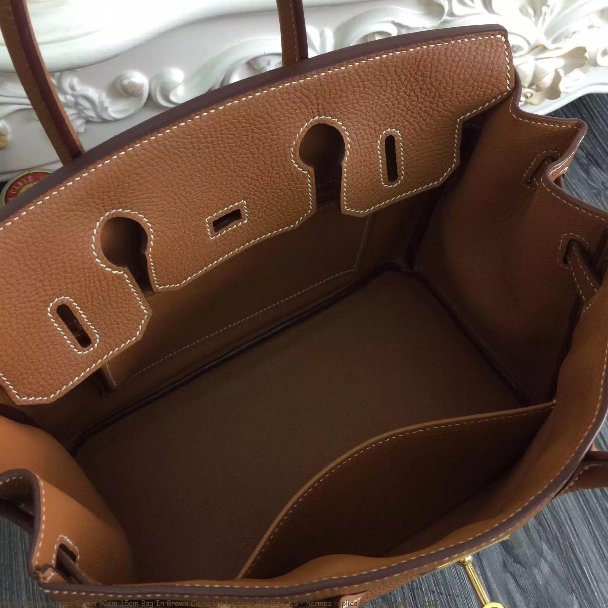 8a094e2cfeb AAA Replica Hermes Birkin 30cm 35cm Bag In Brown Clemence Leather ...