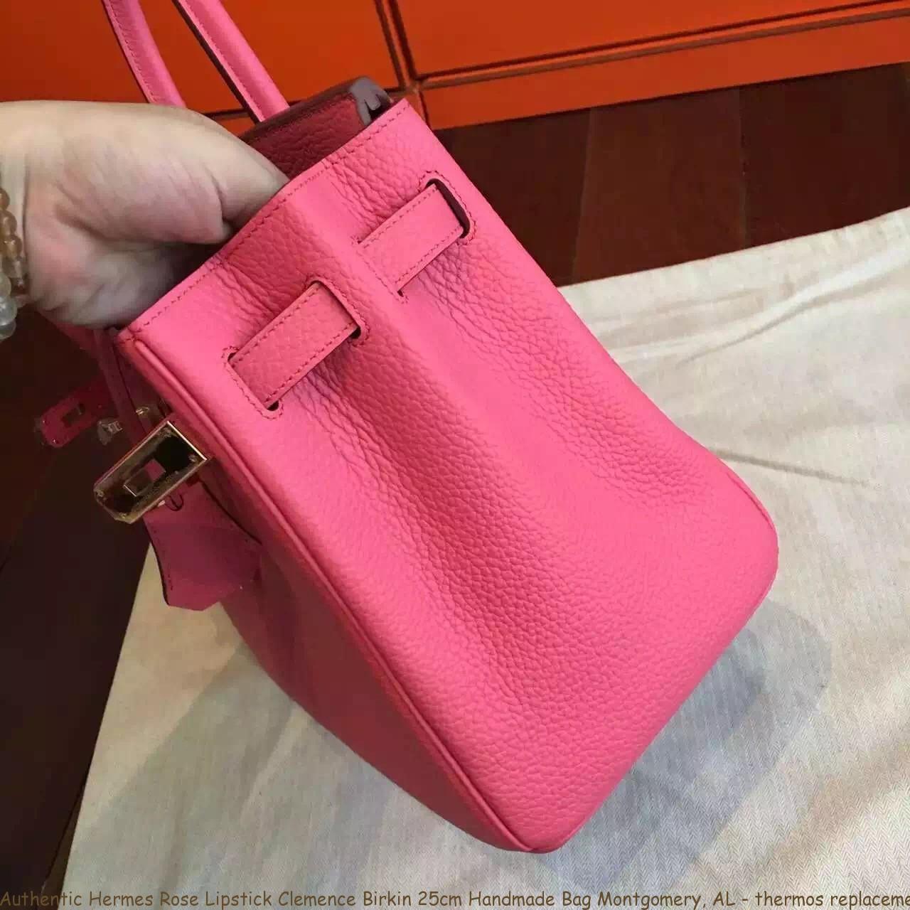 Authentic Hermes Rose Lipstick Clemence Birkin 25cm Handmade Bag ... c52aa21a69