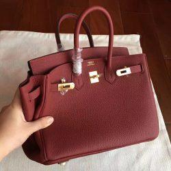 ... Mirror Hermes Bordeaux Clemence Birkin 25cm Handmade Bag Glendale d3d5c21ac5d4d