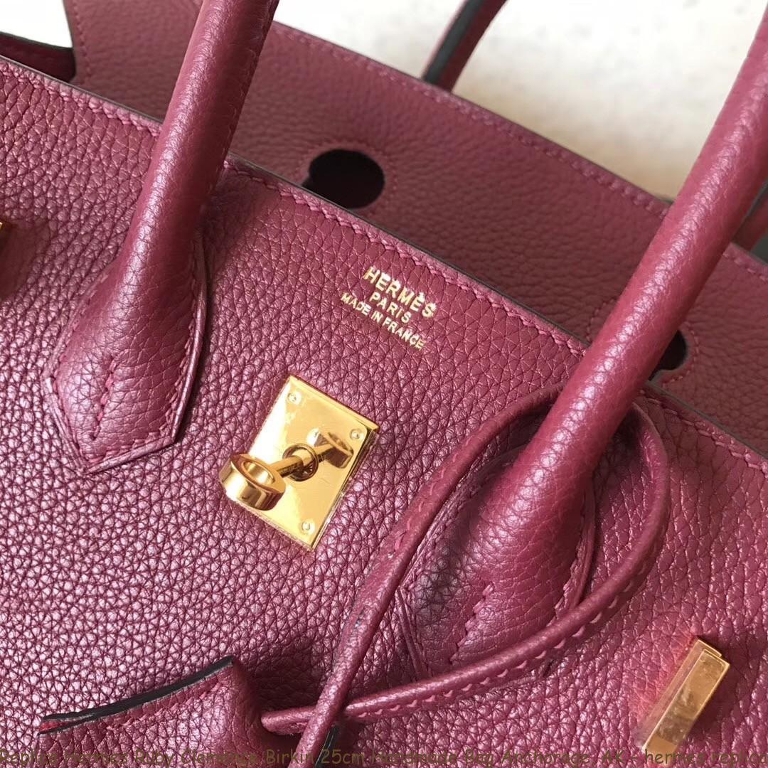 Replica Hermes Ruby Clemence Birkin 25cm Handmade Bag Anchorage, AK ... 191ba7bc72
