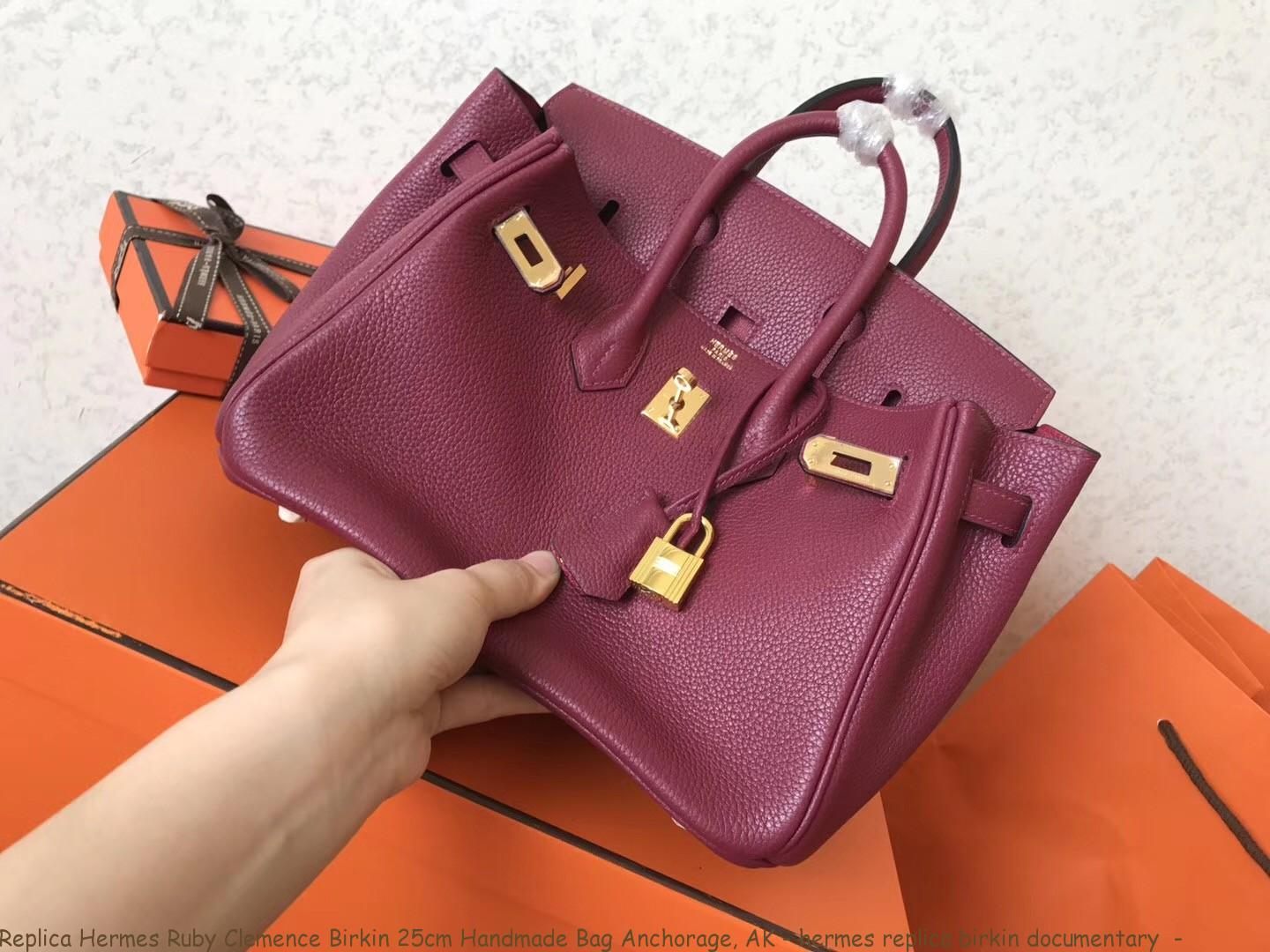 df744c2412d Replica Hermes Ruby Clemence Birkin 25cm Handmade Bag Anchorage, AK ...