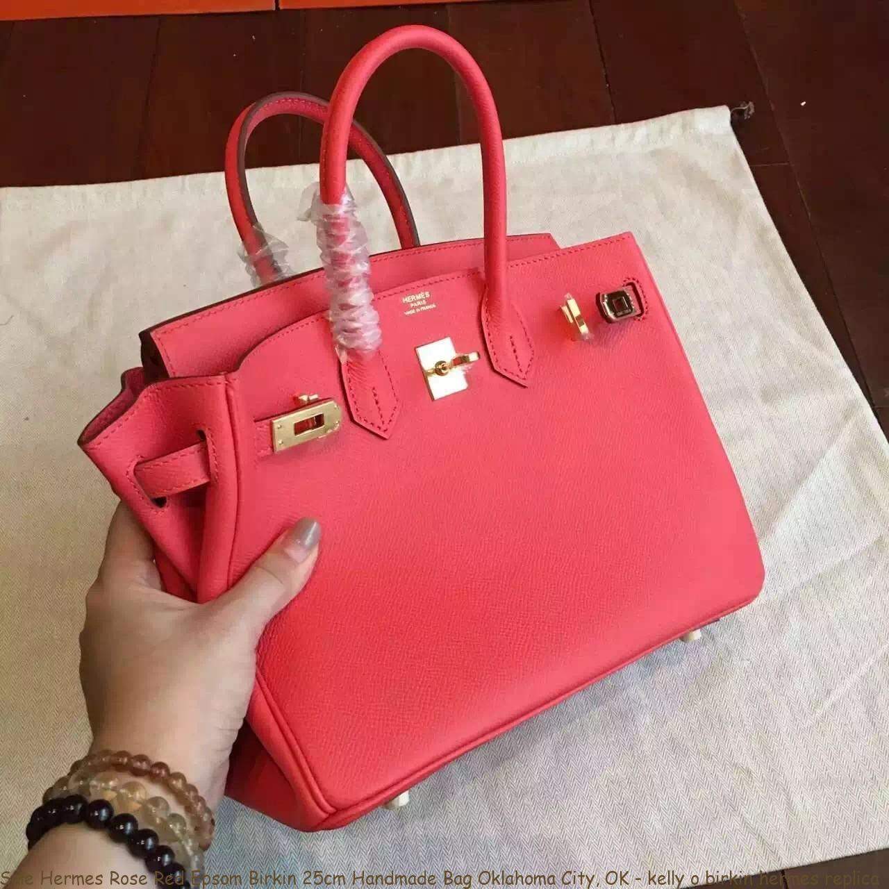 Sale Hermes Rose Red Epsom Birkin 25cm Handmade Bag Oklahoma City ... 278955548bb7
