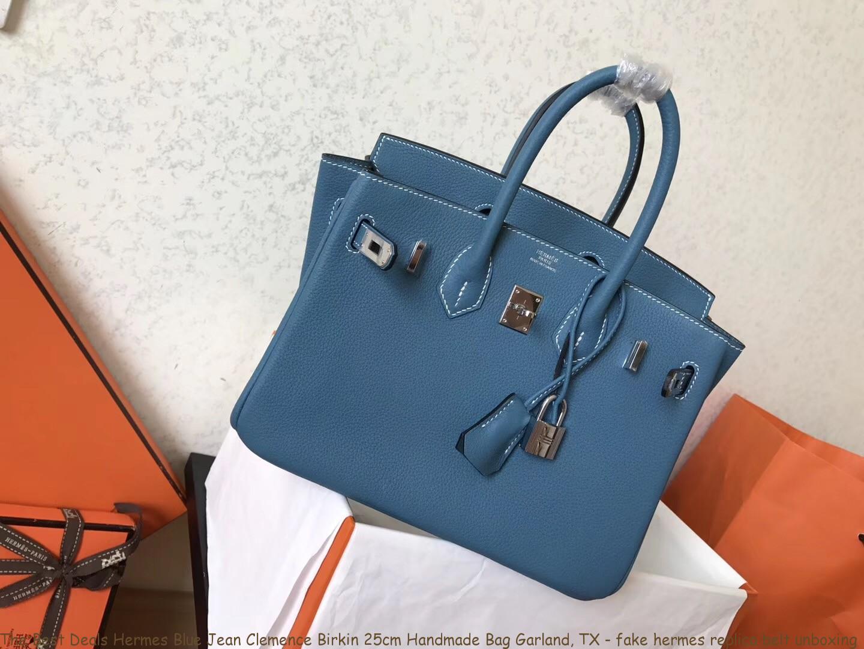 1a19f45cd048 The Best Deals Hermes Blue Jean Clemence Birkin 25cm Handmade Bag ...