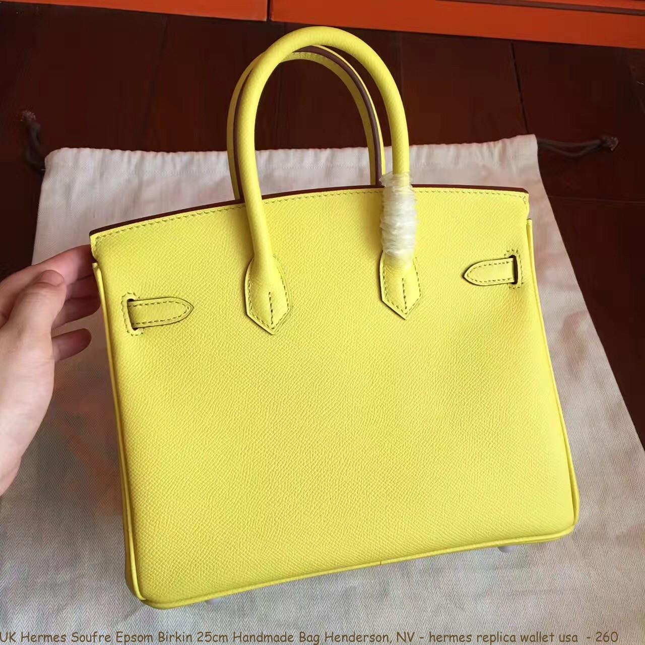 7faec2f1fad8 UK Hermes Soufre Epsom Birkin 25cm Handmade Bag Henderson